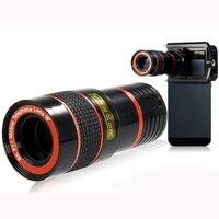 1 Pcs HD universel Unique 8X Téléobjectif Télescope Lentille avec Clip pour iphone 5 6 7 plus pour Samsung Galaxy s5 s6 s7 bord En Gros