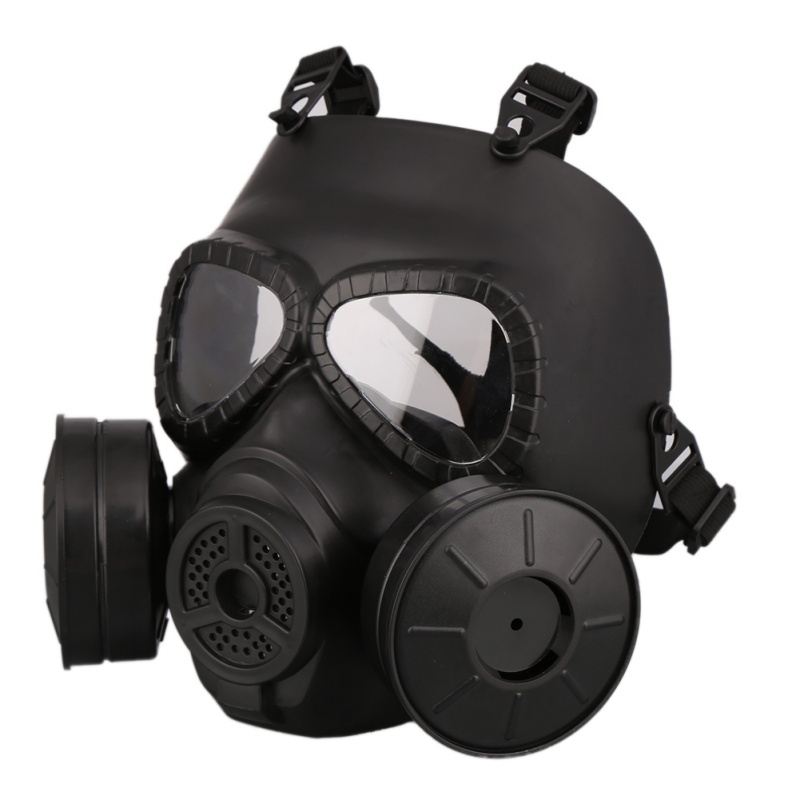 M40 Doppel Fan Gas Maske CS Filter Paintball Airsoft Helm Taktische Armee Capacetes De Motociclista Military Schutz FMA Cosplay