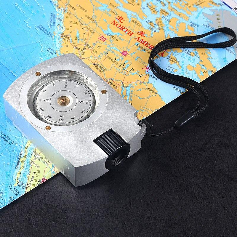 Compas de survie multifonctionnel professionnel pour les yeux Camping randonnée boussole boussole numérique pour mesurer la Distance calculatrice