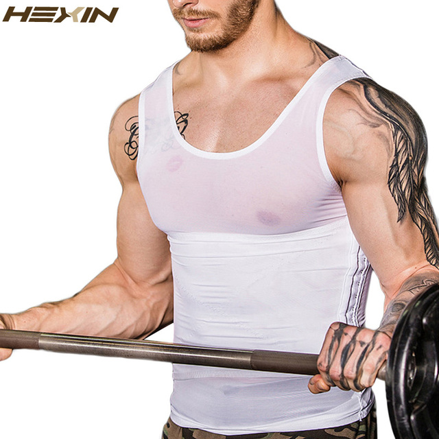 HEXIN Men Body Shaper Vest Waist Cincher And Tummy Control Slimming Belly Shaper Hot Abdomen Shaper Underwear Girdle Shapewear