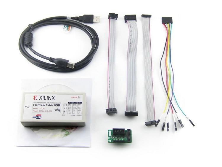 XILINX Platform Cable USB for all Xilinx Devices FPGA PROM/CPLD JTAG Programming Compatible with Original XILINX Platform USB fpga jtag open3s500e standard xc3s500e spartan 3e xilinx fpga evaluation development board xc3s500e core kit