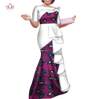 Vestidos African Dresses for Women 2019 Dashiki Elegant Party Dress Plus Size Srapless Traditional African Clothing WY4152