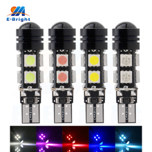 10PCS T10 5050 8SMD 1.5W LED Bulbs No Error Canbus 194 168 W5W DC12V Car Light with White Amber Pink Green Blue Can Mix Colors