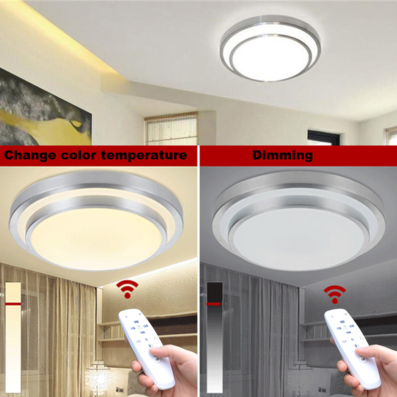 LED Ceiling Lights Change Color Temperature Ceiling Lamp  20W  Smart Remote Control  Dimmable Bedroom Living Room Eye protected xiaomi mijia bedroom kitchen led ceiling lamp lights wifi remote control temperature and humidity sensor ultra slim design