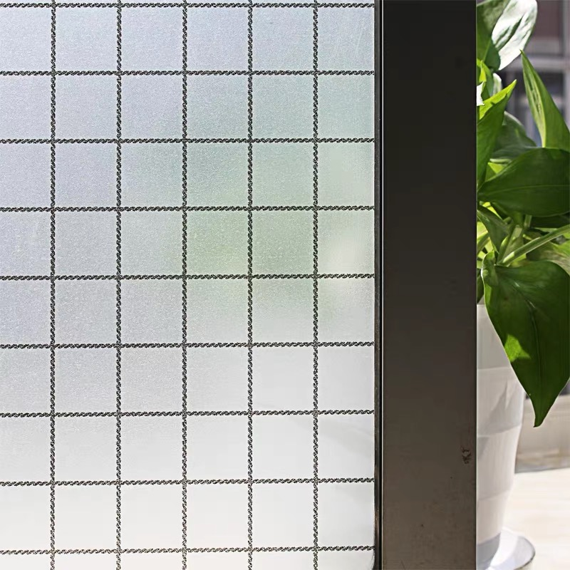Custom Size Window Film Waterproof Frosted Opaque Glass Window Film Cover Window Privacy Adhesive Glass Stickers For Home decor