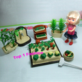 New arrival birthday gift for girls play house 1/12 mini doll furniture working in farm for mini kelly barbie doll