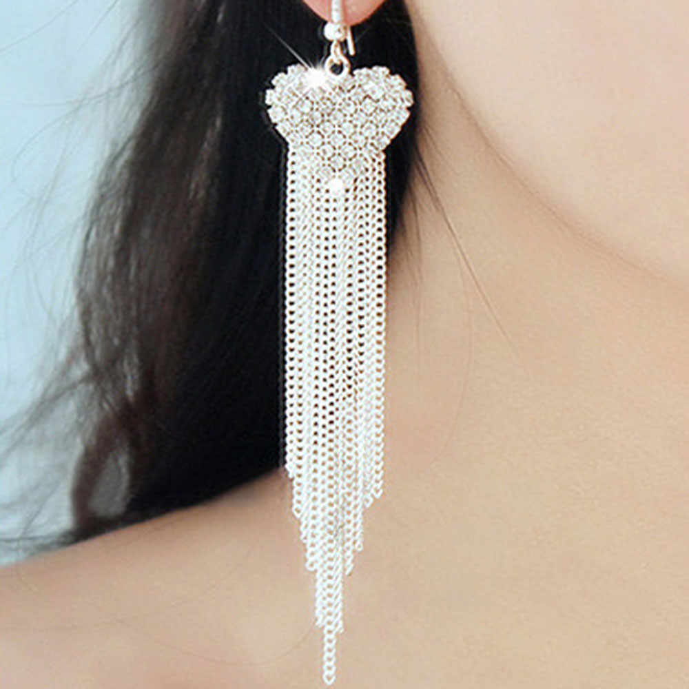 Superb Fashion Women Earrings Lady Elegant Crystal Rhinestone Oorbellen Ear Earrings Jewelry Accessories Ornaments Earring Sets