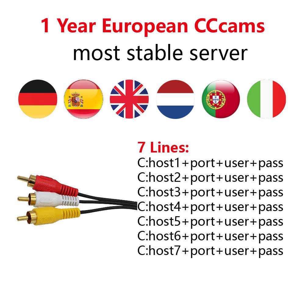 2019 CCCams les plus stables pour l'europe CCCams serveur support gratuit sat V7 GTmedia V8 Nova Satellite TV récepteur CCCams espagne