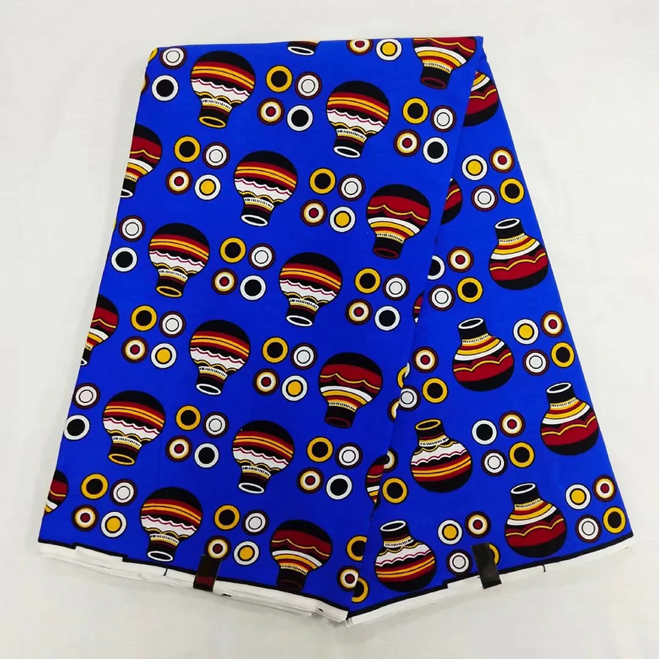 6 Yards Mitex Wax Print African Fabrics Kitenge Pagnes Tissues Africain Lapa Chitenge NAR 5 in Fabric from Home Garden