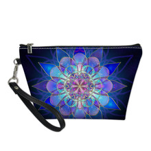 FORUDESIGNS Vintage Flower Printed Cosmetic Bag for Make Up Travel Portable Storage Toiletry Bags Transparent Beauty Case Makeup(China)
