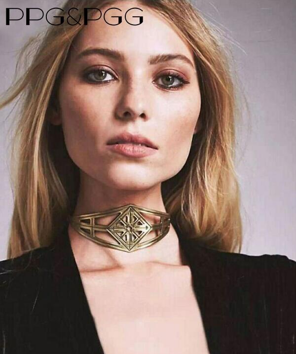 74c28b3e705d PPG y PGG Heavey Metal Declaración de Joyería de Moda Collar de Cadena Del  Cuello del Diseño del Cortocircuito Para Las Mujeres