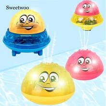 Electric Sprinkler Water Spray Toy Light Music Rotate Bath Funny 3D Space UFO Children Swimming