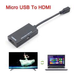 USPS Assistir filmes jogos vídeos Micro USB Para HDMI Adaptador de Cabo Curto Para LG Para HTC Para Sony Para SamSung HDTV