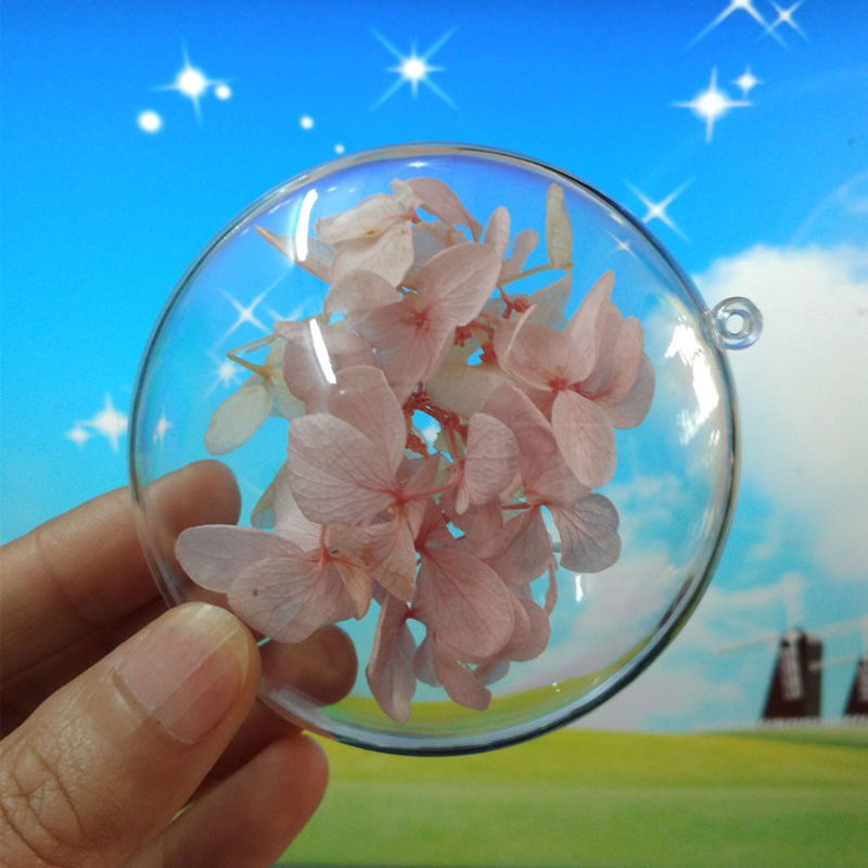 7-9cm Oblate shape PS window display Christmas ball decorations Xmas Tree ornaments Transparent hanging ball wedding decoration