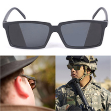 See Behind Spy Sunglasses Novelty Shades with Mirror on Side Ends Funny Costume Glasses Accessories for Adult