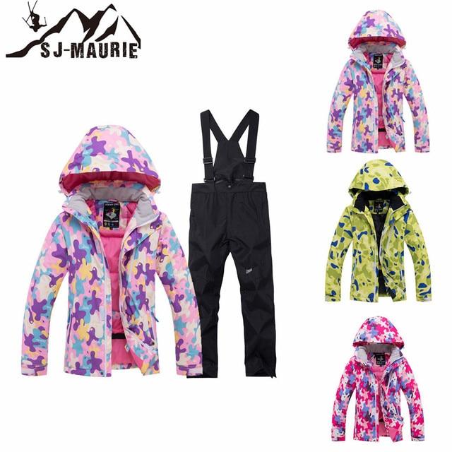 f9d61220a SJ-Maurie Winter Children Waterproof Windproof Ski Suit Kids Jacket Coat  Snowsuit Girls Outdoor Winter Coat Boy Clothing Set