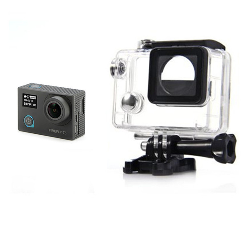 High Quality Hawkeye Firefly 7S 4K Camera Spart Part 30M Diving Waterproof Case For FPV Multicopter Part hawkeye firefly 6s 4k sport fhd dv 16m cmos wifi waterproof camera quick time player required