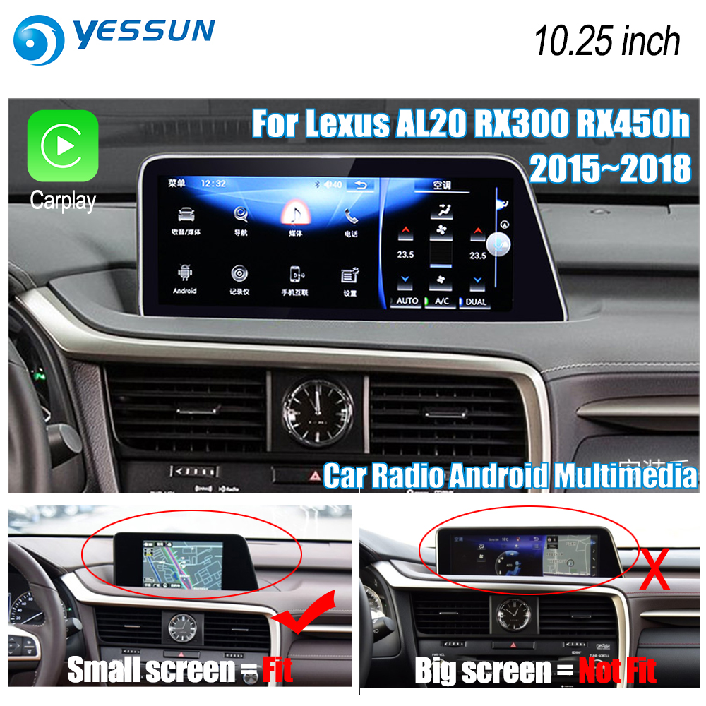 YESSUN For Lexus AL20 RX 300 RX 200t RX 450h 2015~2018 Car Android Carplay GPS Navi maps Navigation Player Radio Stereo no DVD yessun for lexus al20 rx 300 rx 200t rx 450h 2015 2018 car android carplay gps navi maps navigation player radio stereo no dvd