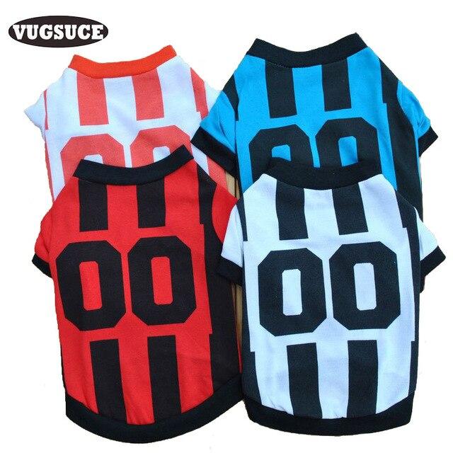 Vugsuce perro camisa equipo de fútbol Jersey perro para pequeños Perros deportes ropa traje primavera para perrito yorkshire