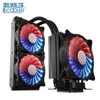 PCCOOLER Процессор радиатор звездное небо интеллектуальные Контроль температуры ШИМ Dual Fan Процессор охладитель воздуха водяного охлаждения ти