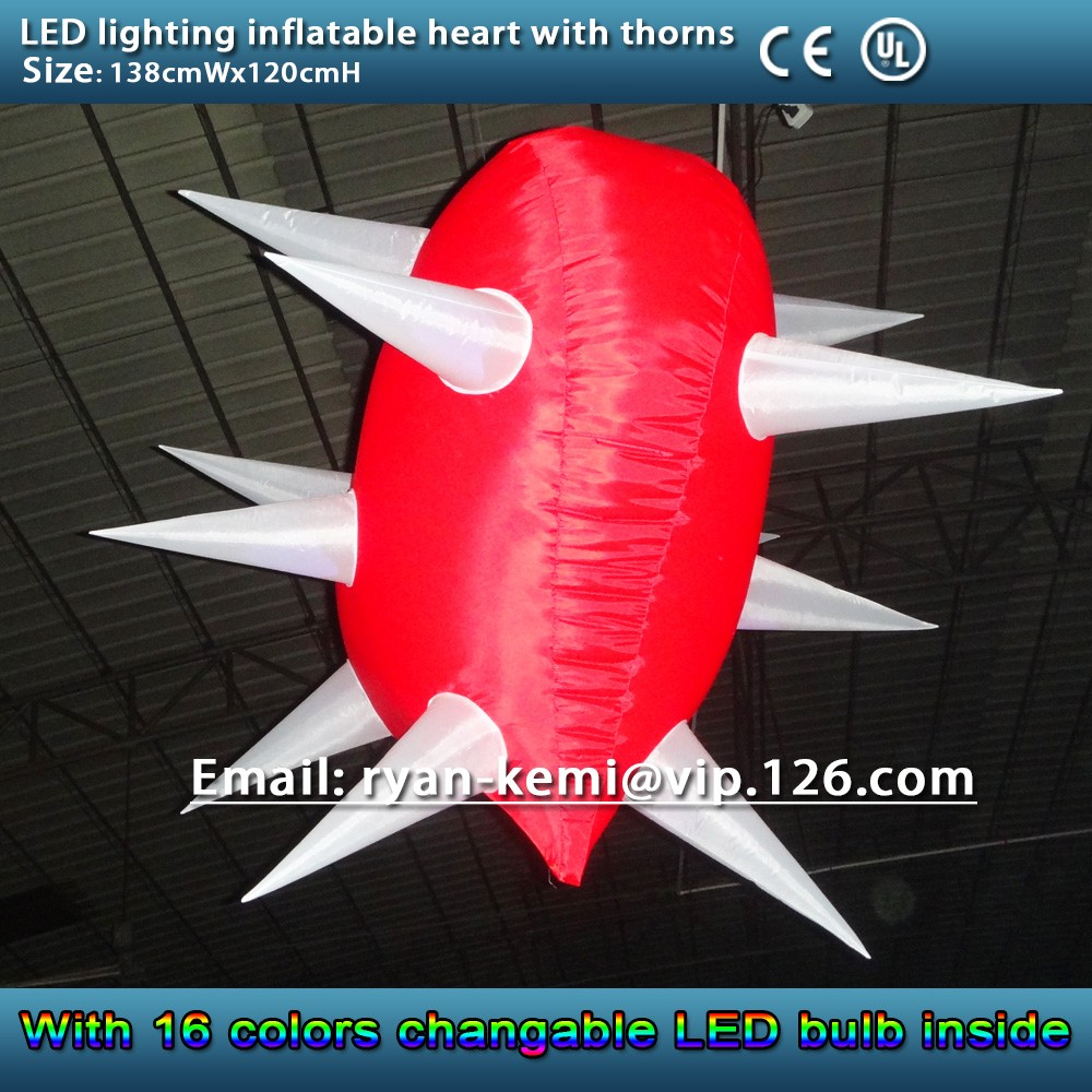 side of inflatable heart
