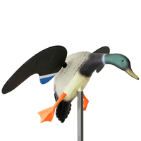PE Outdoor Hunting Duck Decoy Electric Flying Duck Decoys RC Remote Control Male/Female for Garden Backyard Decor Ornament