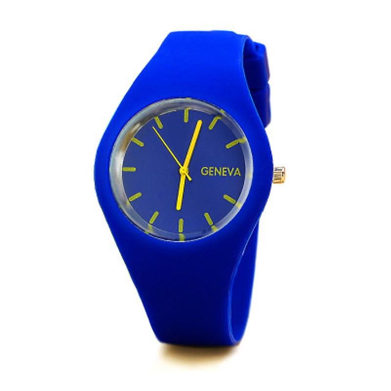 Women Fashion Stainless Steel Silicone Strap Analog Quartz Wrist Watch Luxury Simple Style Designed Bracelet Watches Women Clock