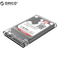 ORICO Type C Hard Drive Enclosure UASP 2 5 Inch Transparent USB 3 1 Hard Drive