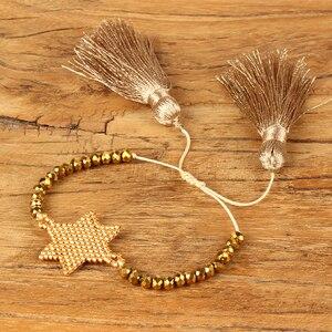 Image 3 - Shinus Lote de pulseras MIYUKI para Mujer, 10 unidades, joyería 2019, pulseras de parejas de estrellas, brazaletes bohemios hechos a mano para verano