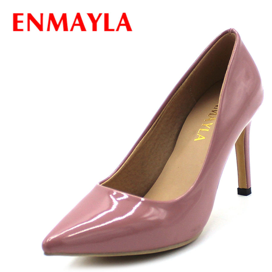 AirFour High Heels Shoes Woman Pointed Toe Pumps Women Summer Female Sexy Red Black Brown Ladies Dress