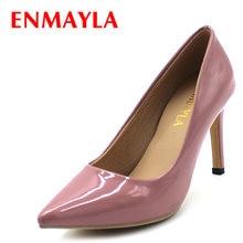 Enmayla/обувь на высоком каблуке женские туфли лодочки с острым