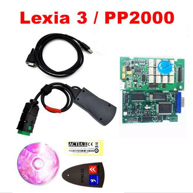 Цена за Профессиональный инструмент сканер Lexia 3 инструмента диагностики Lexia3 PP2000 Diagbox V7.83 программного обеспечения V48 сканер для автомобилей Citroen для peugeot