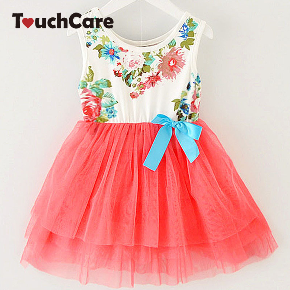 Girl Dress Summer New Floral Baby Girl Dress Princess TuTu Dress 8 Colors Infant Dresses Kids Clothing With Bow стоимость