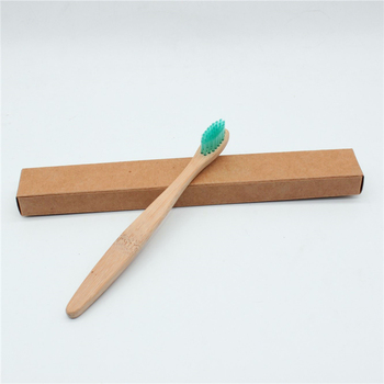 Rainbow Kids Bamboo Toothbrush bristles tandenborstel Fibre Wooden Handle Low carbon Environmentally Tooth cleaning Toothbrush