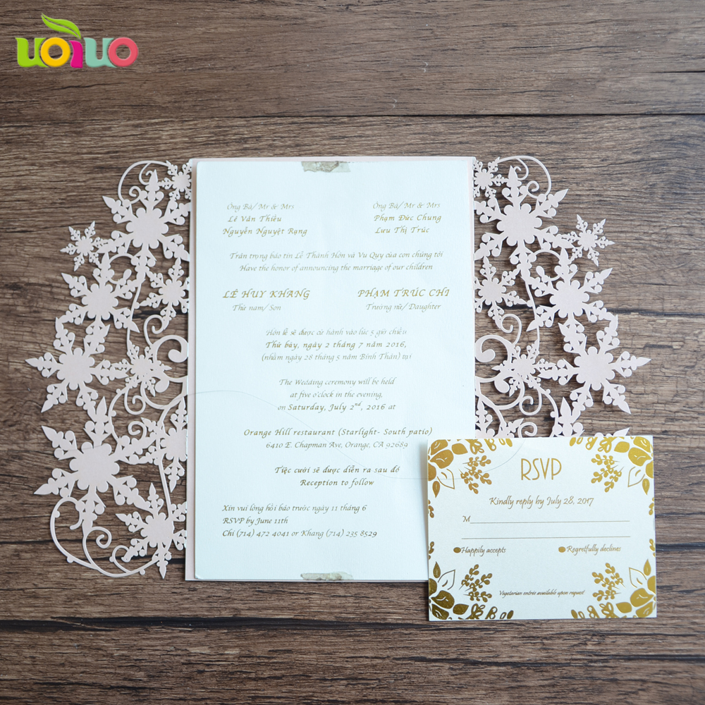 Christmas Wedding Invitations.Us 37 5 Unique Elegant Snowflake Christmas Wedding Invitation Card Laser Cut Christmas Greeting Cards Price In Cards Invitations From Home