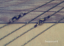100pcs/lot  1.2mm antique bronze 1:1 necklace pendant chain With lobster Clasp 22inche