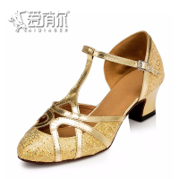 Gold Women Dance Shoes Popular Women Latin Ballroom Salsa Dance Shoes For Women Sandals Heel Women