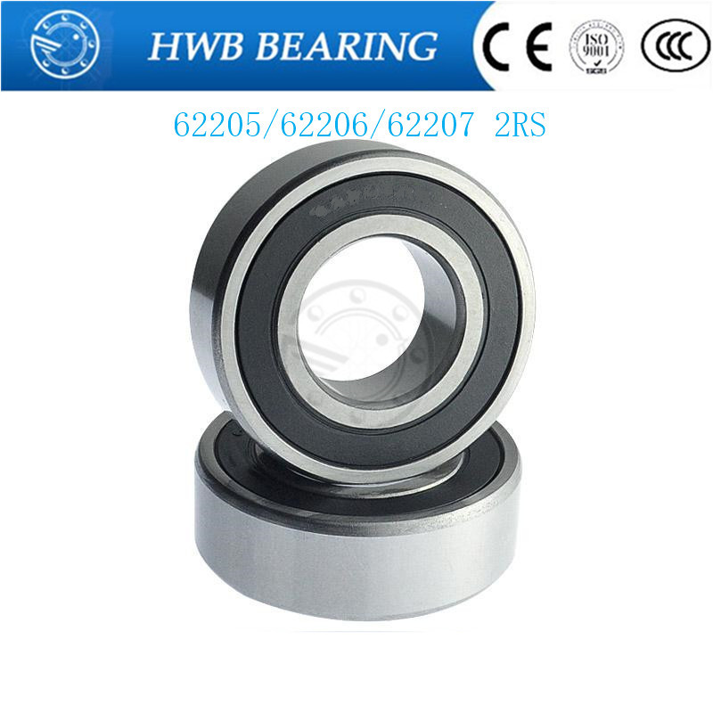 1PCS Free Shipping Special bearings 62205 2RS 62206 2RS 62207 2RS  Double Shielded Deep Ball Bearings Large breadth 4pcs excavator bearing 63005 2rs 63005 2rs 25 47 16mm 25x47x16mm double shielded deep ball bearings large breadth