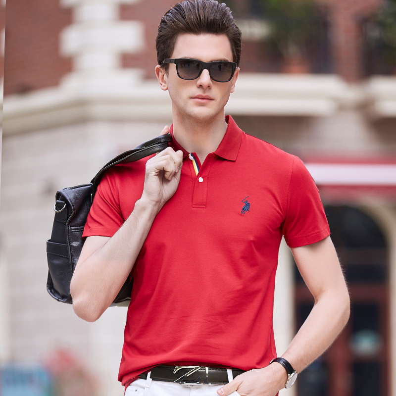 2019 Men   polo   shirt 3d deer embroidery short sleeve brand design 100% cotton High Quality quick dry homme camisa plus szie XXXL