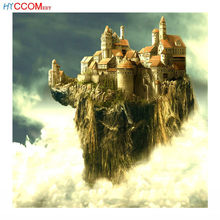 "Full Square / Round Drill 5D DIY Diamond Painting scenery ""Antenna castle"" 3D Embroidery Cross Stitch 5D living room Decor Gift(China)"
