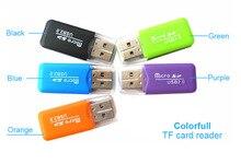 Портативный красочные высокое Скорость USB 2.0 Micro SD TF T-Flash чтения карт памяти, MicroSD TransFlash usb флеш-накопитель адаптер