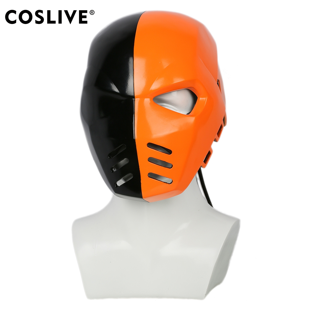 Coslive Movie Cosplay Deathstroke Mask Arrow Season 5 Cosplay Helmet Costume Props Fancy Dress for Halloween Show Carnival Party image