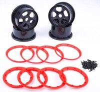4pcs/set Five star wheel hub w/ beadlocks screws kits for 1:5 scale HPI RACING/KM baja 5B 5T 5SC LOSI TDBX FS MCD toys rc car