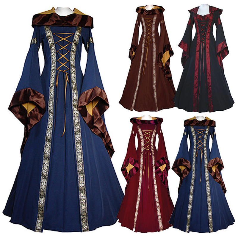 Evening dress European retro court costume French castle hostess costume Halloween costume Movie COS clothing