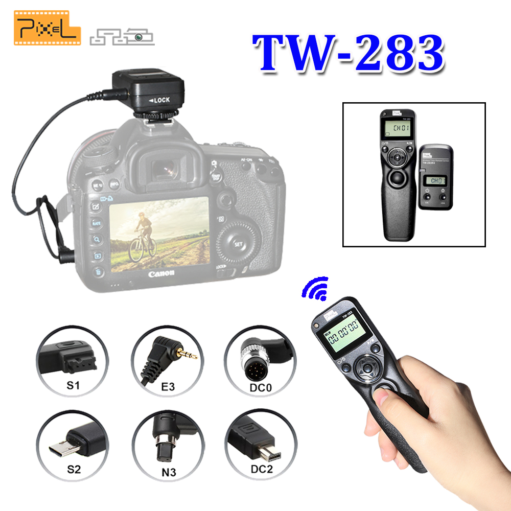 цена на Pixel TW-283 TW283 For Canon Nikon D3100 D7100 D7000 D5100 D5000 Sony Camera Wireless Timer Remote Shutter Release Control Cable