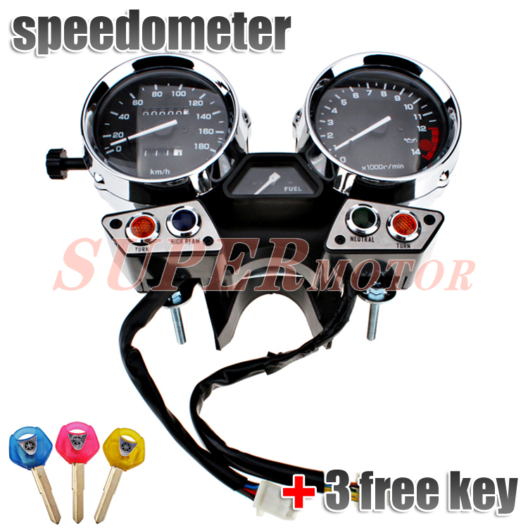 Gauges Speedometer Tachometer Cluster Assembly fits for  YAMAHA XJR400 95 96 97 KM/H aftermarket brand New scooter parts gauges cluster speedometer tacho odometer fits for kawasaki zrx400 zrx750 zrx1100 kmh free shipping