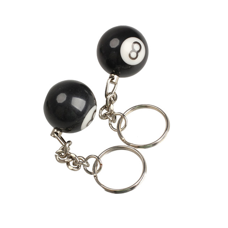 Outdoor edc tool safe survival kit 2pcs Billiard Pool Keychain Snooker Table Ball Key Ring Gift Lucky NO.8 sport camping hiking