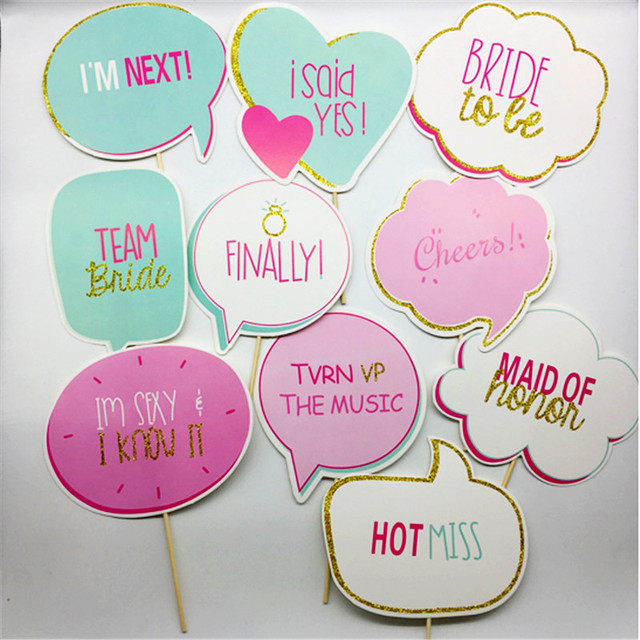 10pcs wedding sign favor and gift photo booth props sparkly holiday