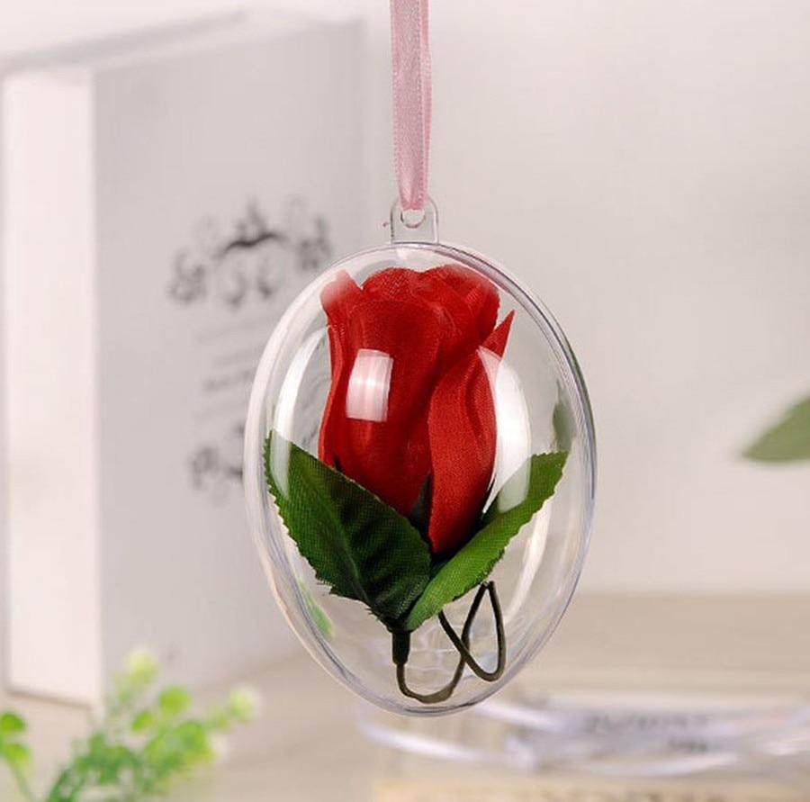 unids bola adornos de navidad rbol de navidad decoracin adornos de bolas de caramelo claro