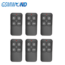 6PCS New Black wireless remote control sensor for High quality GSM alarm system 433mhz Home security